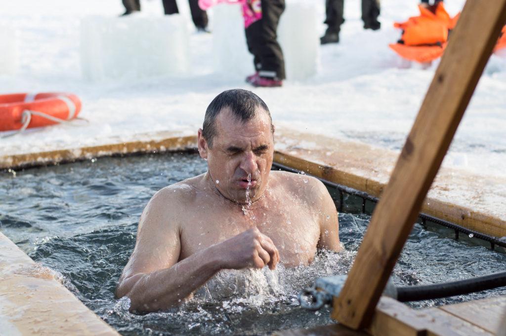 Освящение вод на реке Казанке